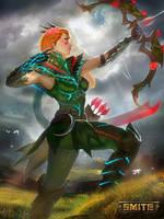 Briar Queen Artemis - Smite by jaggudada