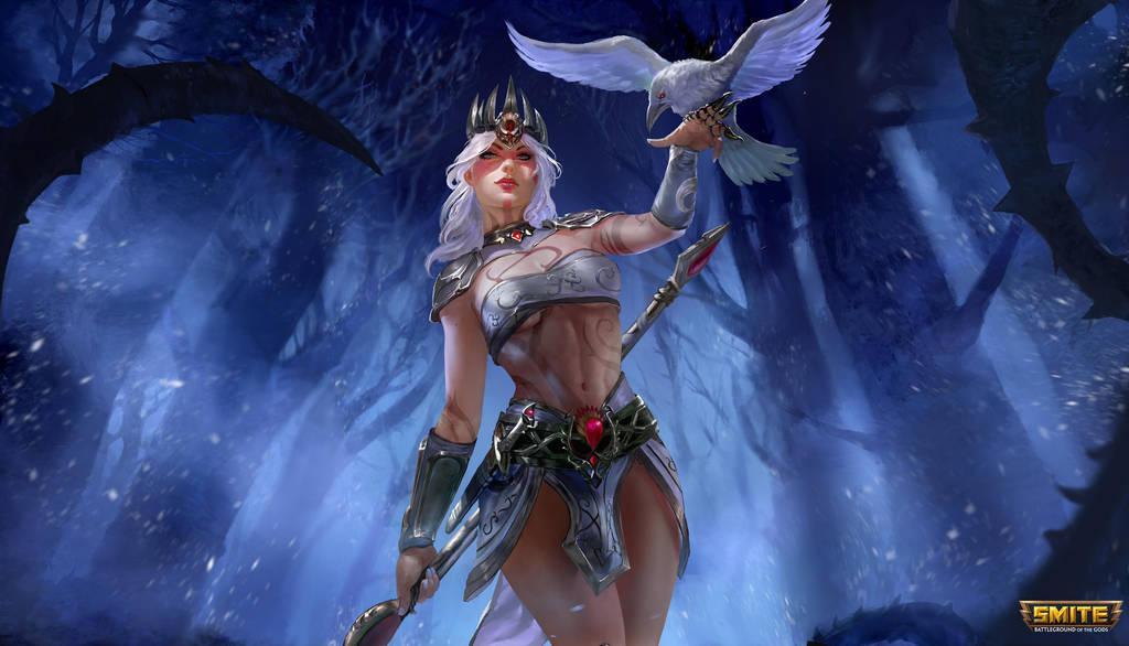 The Morrigan - Pale Raven - Smite by jaggudada