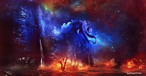 Monster of the Dark Sea by nitefox1203