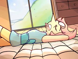 Pearl Sleeping  by kittenlover101