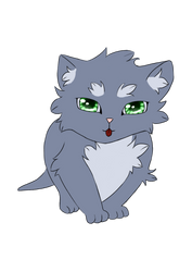 Kitten with the green eyes by selftaughtartist1
