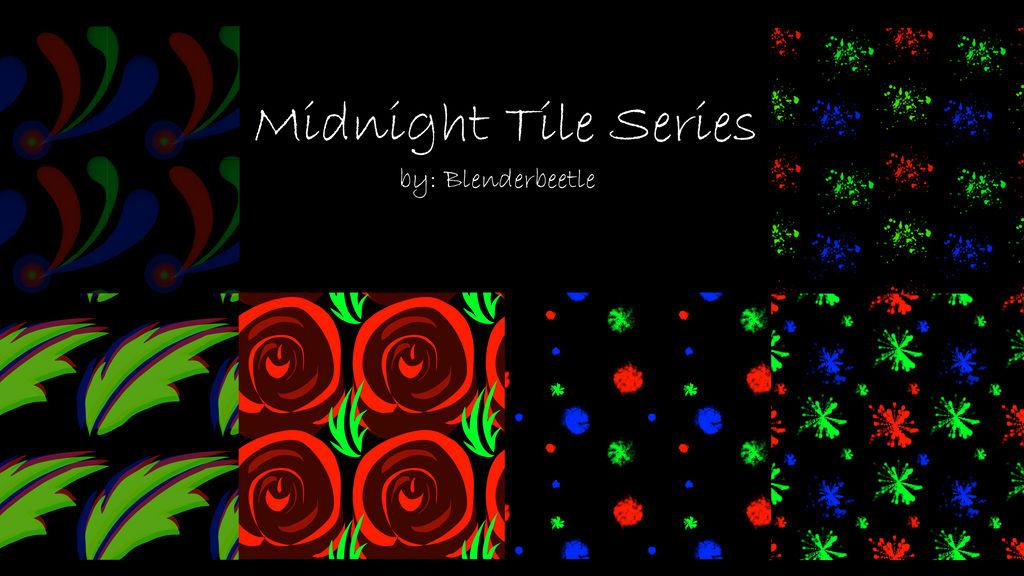 Midnight Tile Series by selftaughtartist1