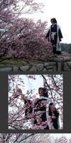 Byakuya - Sakura by AthelLoren-wardancer