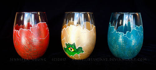 Dragon Egg Glasses by blueJAY2