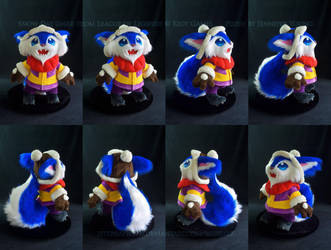Snow Day Gnar Plush (turnaround views) by blueJAY2