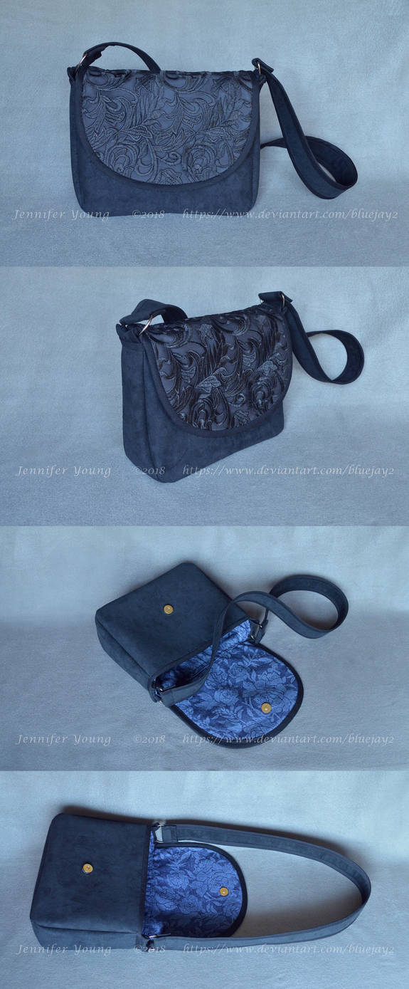 Black Lace Purse Commission (multiple views) by blueJAY2