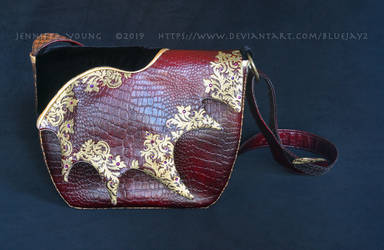 Gilded Dragon Hide Purse by blueJAY2
