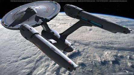 Star Trek USS Enterprise Reimagined by Zodi