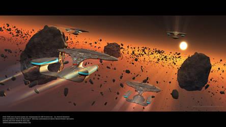 Star Trek Squadron of U.S.S Enterprise D by Zodi