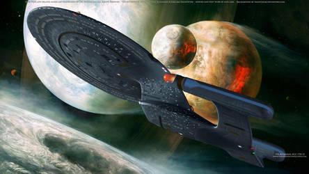 Star Trek USS Enterprise NCC-1701-D by Zodi