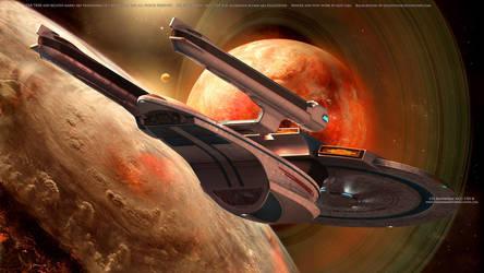 USS Enterprise NCC-1701-B Space Exploration by Zodi