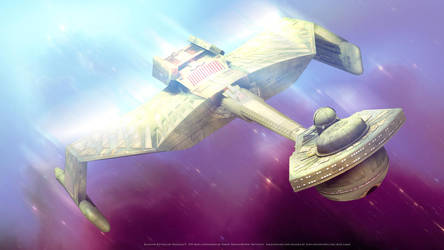 Star Trek K'Tinga Klingon Battlecruiser by Zodi