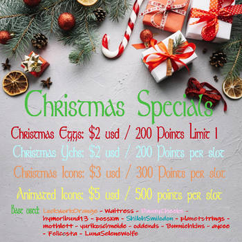 Christmas Specials - [Slots Open 5/5] by MorbidWolf13