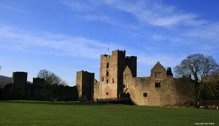 Ludlow Castle from outer ward by ogrebear