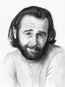 George Carlin Portrait by Olechka01