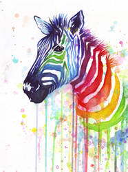 Rainbow Zebra - Ode to Fruit Stipes by Olechka01