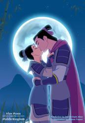 Mulan and Shang Kiss by manony