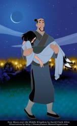 Fa Zhou Carries Mulan by manony