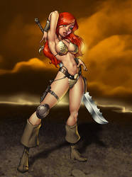 Red Sonja by Dominic-Marco