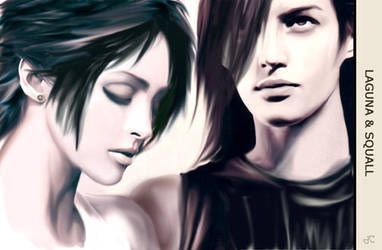 Squall and Laguna by jubliantlaine