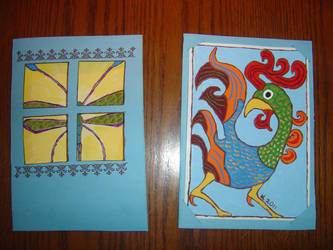 Two cards Sept. BDays by WeeMadAggie