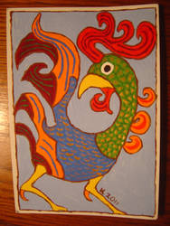 Rooster Card by WeeMadAggie