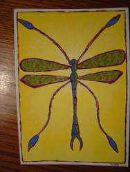 Dragonfly Card by WeeMadAggie