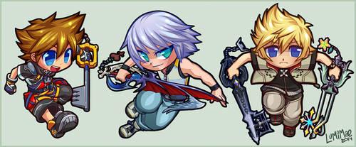 Kingdom Hearts chibis by lumi-mae