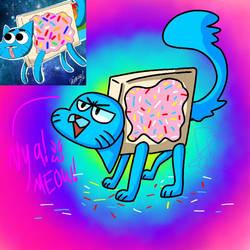 Nyan Gumball REMAKE!!!! by Mariepinkston03
