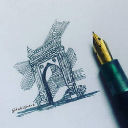 Quick small sketch : the gate.. _ #TabishereArt #d by TABishere