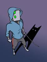 Fan art- Gunnerkrigg Court's Robot and Shadow by Xavier-Isaacs