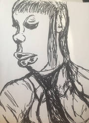 weird  portrait by Mr-Bonejangles