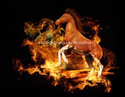 Flames of a dragon by katiecatapillar
