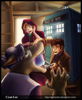 Doctor Who and Red Riding Hood by tushantin