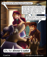 Comic -- Doctor Who and Red Riding Hood by tushantin
