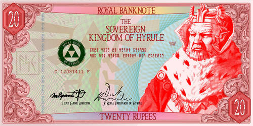Twenty Rupee Hylian Banknote by G33k1nd159153