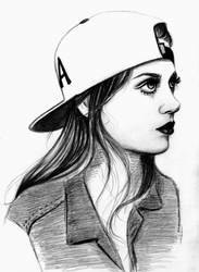 Snapback girl 2 by coloradn on DeviantArt 64a4740cbb4
