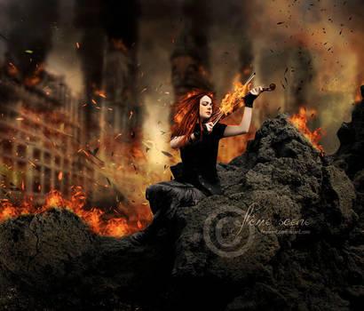 -flame scene- by TuubArt