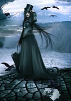 Lady Raven by mmebuterfly