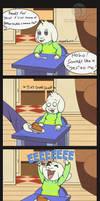 Asriel's First Pie Comic by Trelock
