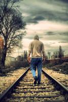 Lonely man by NewBelgrade