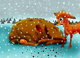 Awful pain and awful sorrow for Bambi by Lior-Art