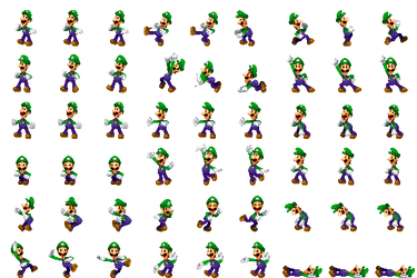 Luigi Side View Luigi DreamTeam by Xabring