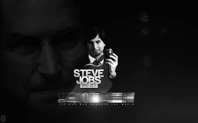 Steve Jobs Wallpaper by sha-roo