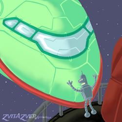 20151031 Bender and Rocket by zvitazver