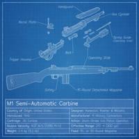 M1 Carbine Blueprint by graphicamechanica