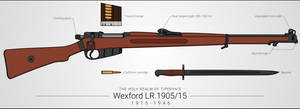 Wexford LR.1905/15 Bolt-Action Rifle by graphicamechanica