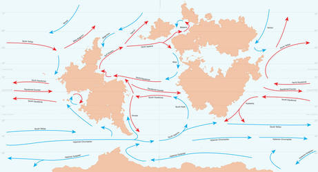 Anterra Ocean Currents Map by graphicamechanica