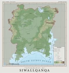 SiWallqanqa Topography - Atlas of Anterra by graphicamechanica