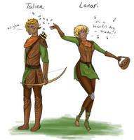 Dalish siblings by Captain-Savvy